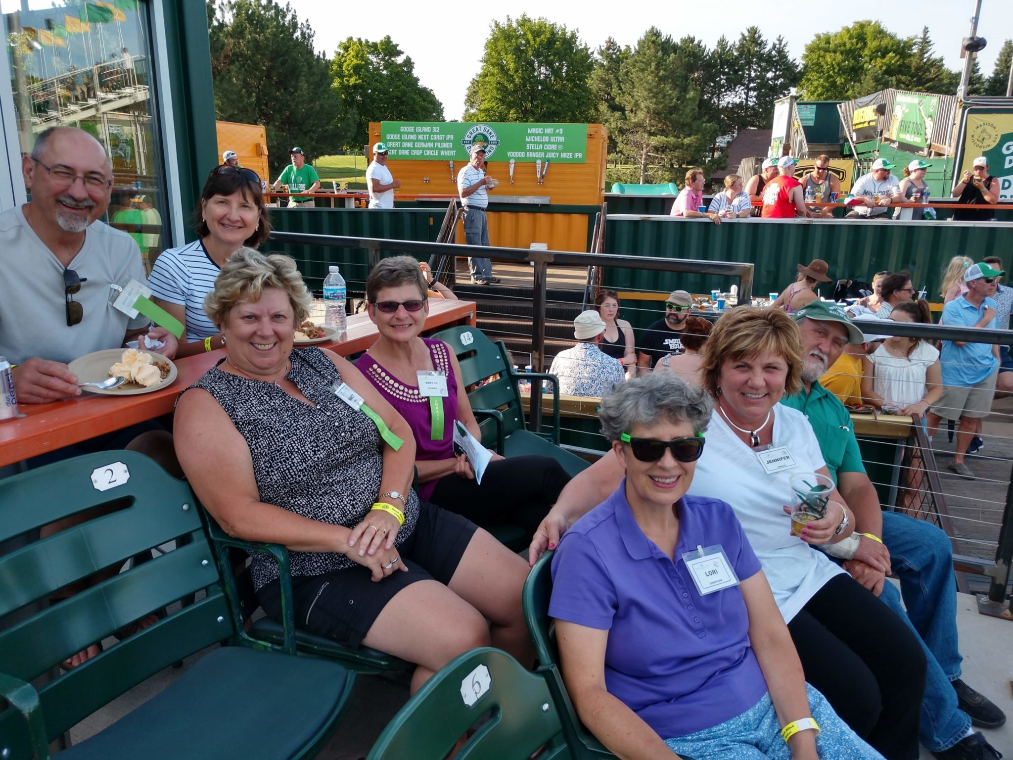 Retirement Income Planning Clients at a Mallards game (2019)